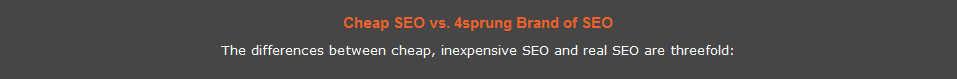 cheap SEO vs 4sprung SEO