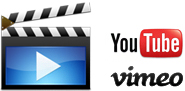 youtube and vimeo videos